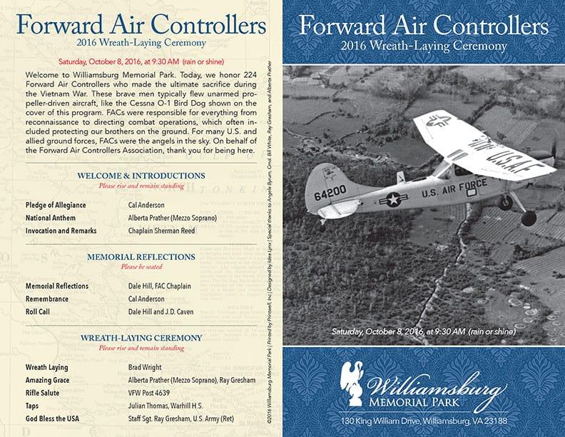2016 Forward Air Controllers Wreath-Laying Program